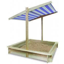 Fa homokozó napfényvédő tetővel - átmeneti készlethiány