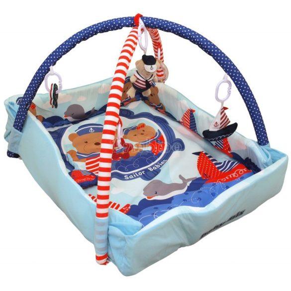 Baby Mix tengerész macis peremes játszószőnyeg