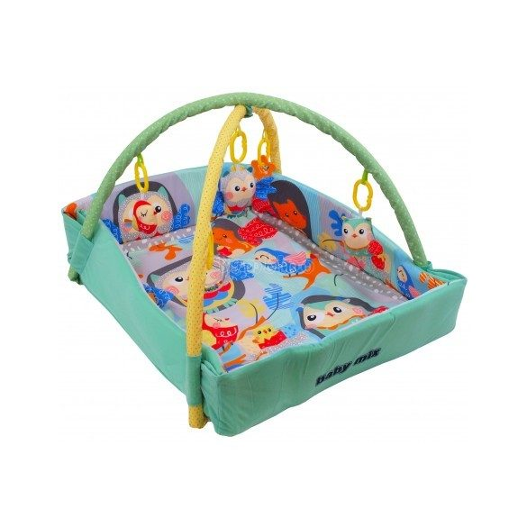 Bagoly mintás peremes játszószőnyeg