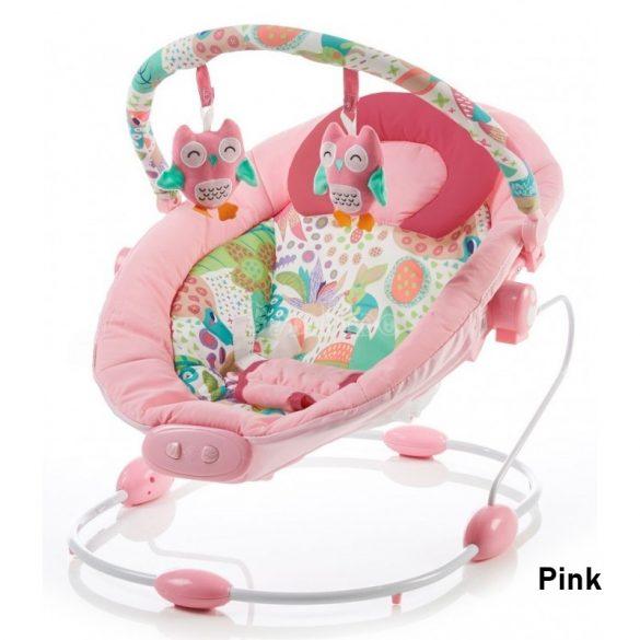 Baby Mix rezgő, zenélő pihenőszék - pink