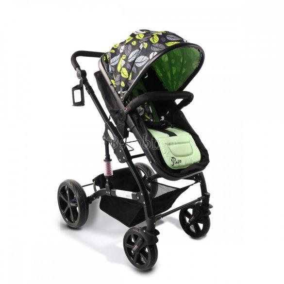 Cangaroo Pavo újszülött kétirányú babakocsi lábzsákkal-zöld