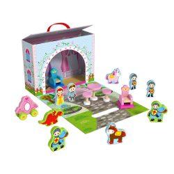 Tooky Toy hercegnős fa játékkészlet