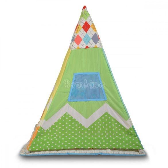 Cangaroo Baby Tipi játszószőnyeg sátorral, pocakpárnával és játékokkal