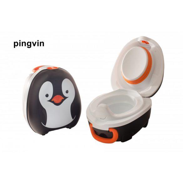 My Carry Potty hordozható bili, tetővel - pingvin