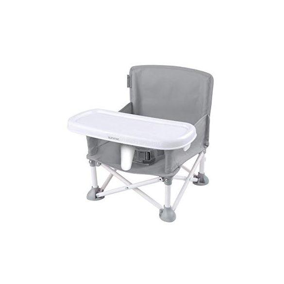 Pop N Sit hordozható székmagasító etetőszék - szürke