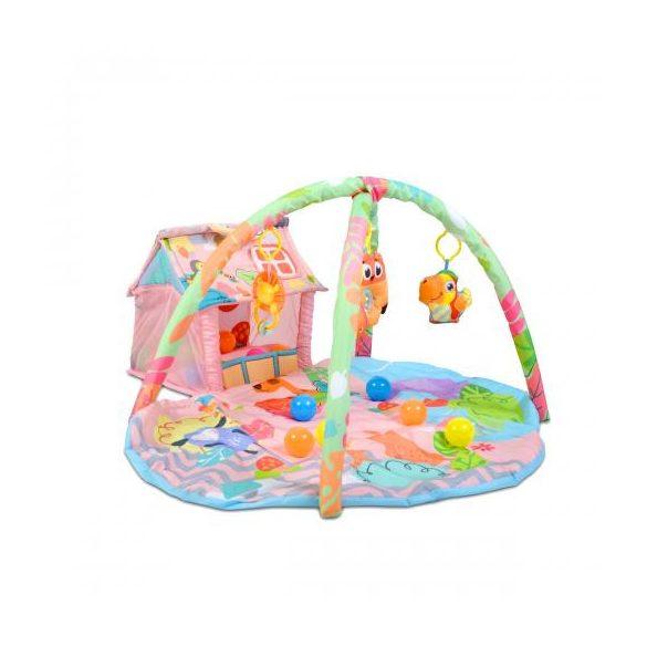 Cangaroo házikós játszószőnyeg lányos színben