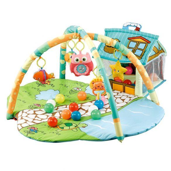 Cangaroo házikós játszószőnyeg fiús színben