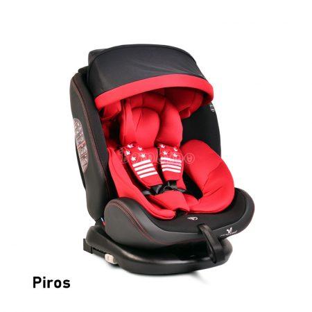 Cangaroo Pilot Isofix forgatható gyerekülés napellenzővel 0-36 kg piros