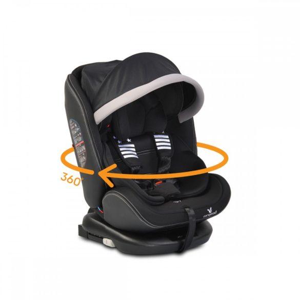 Cangaroo Pilot SPS Isofix forgatható gyerekülés napellenzővel 0-36 kg fekete