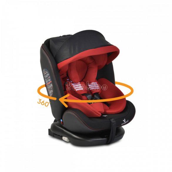 Cangaroo Pilot SPS Isofix forgatható gyerekülés napellenzővel 0-36 kg piros
