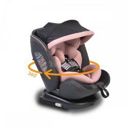 Cangaroo Pilot SPS Isofix forgatható gyerekülés napellenzővel 0-36 kg pink
