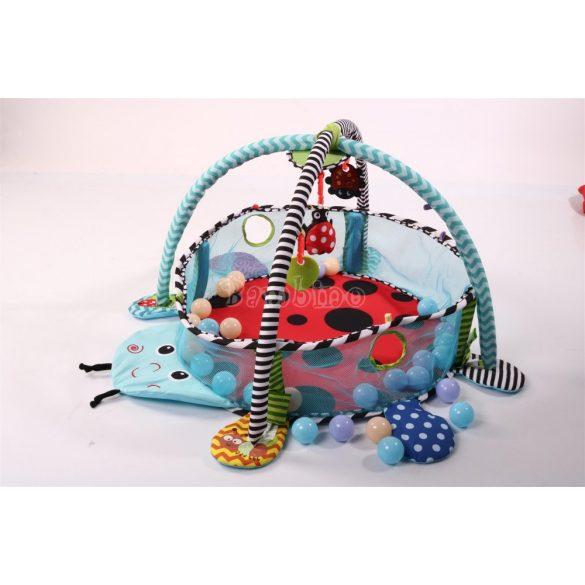 Cangaroo Katicás játszószőnyeg hálós oldallal és 30 db labdával
