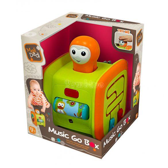 Zenélő robot doboz