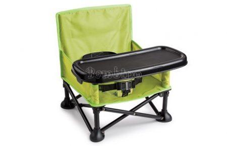 Pop N Sit hordozható etetőszék - zöld