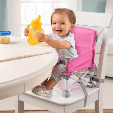 Pop N Sit hordozható etetőszék - pink