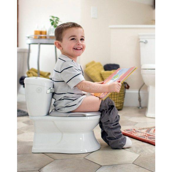 Gyerek WC öblítő hanggal, levehető WC szűkítővel