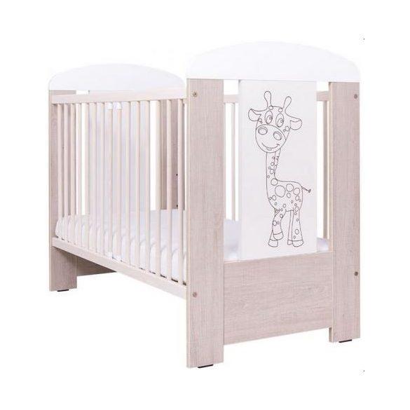 Drewex ágy zsiráfos - tölgy/fehér