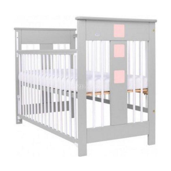 Drewex Sahara leengedhető oldalú ágy, fehér - rózsaszín - szürke