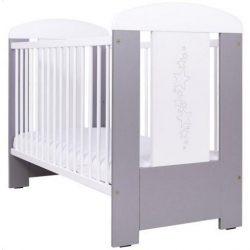 Drewex ágy csillagos szürke/fehér 60x120