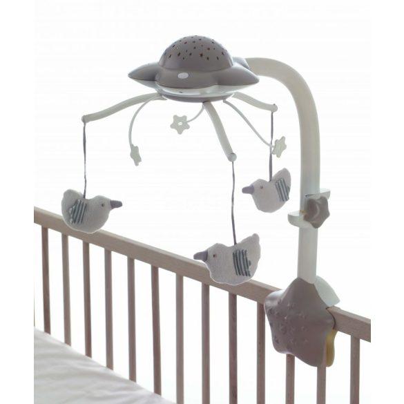 Jané Projektoros zenélő forgó madarakkal