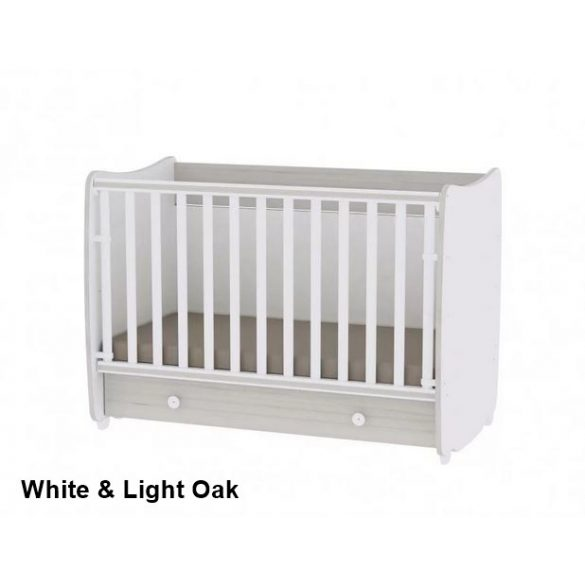 Lorelli Dream kiságy 60×120 cm - White & Light Oak