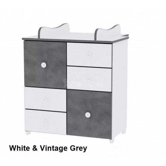 Lorelli Cupboard pelenkázó komód - White & Vintage Grey