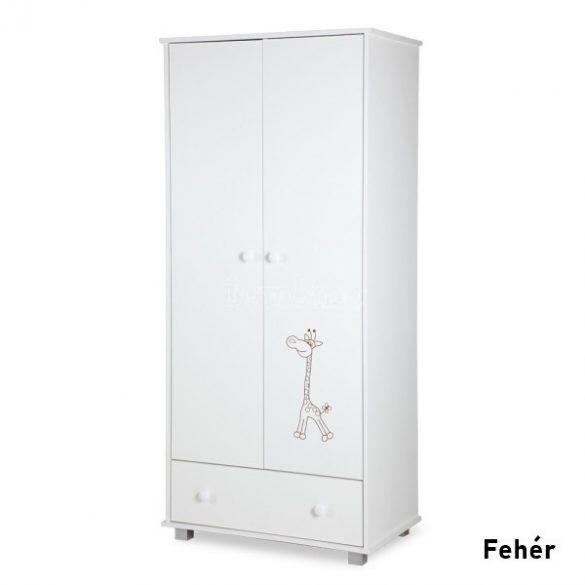 Klups Szafari Zsiráf 2 ajtós fehér szekrény