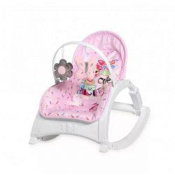 Lorelli Enjoy rezgő-zenélő pihenőszék és babafotel 2in1 - pink