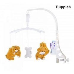 Chipolino zenélő forgó - aranyos állatkák - Puppies