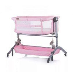 Chipolino Amore Mio szülői ágyhoz csatlakoztatható kiságy, babaöböl - Peony pink