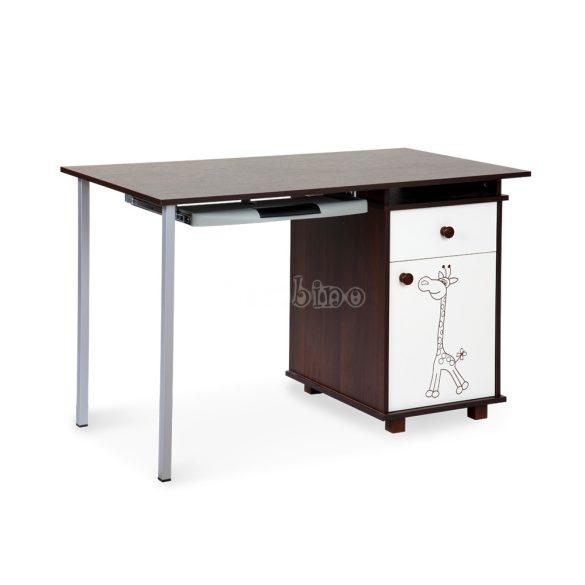 Klups Szafari/Zsiráf íróasztal - törtfehér-dió