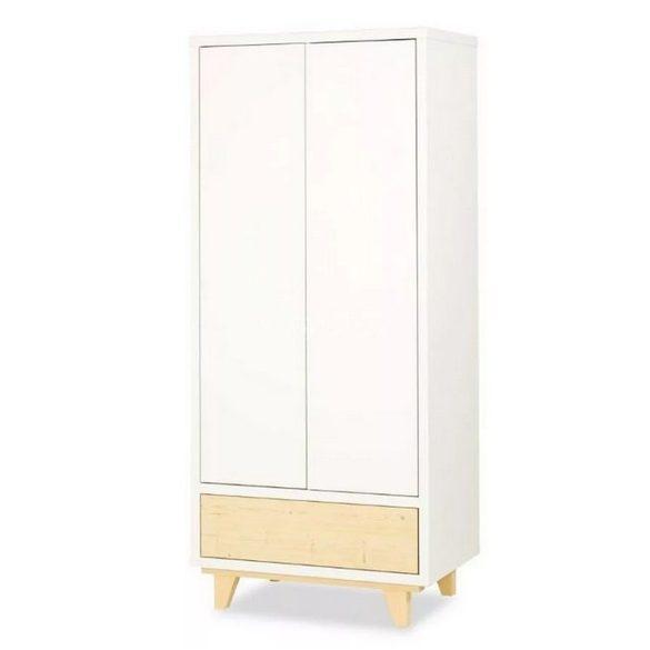 Klups Lydia 2 ajtós szekrény - fehér&fenyő