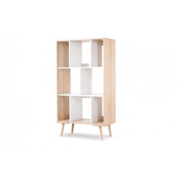 Klups Sofie nyitott álló szekrény - bükk és fehér