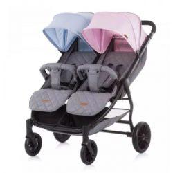 Chipolino 2 Classy blue-pink ikerbabakocsi