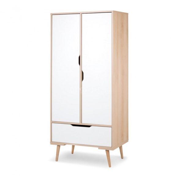Klups Sofie 2 ajtós szekrény - bükk & fehér