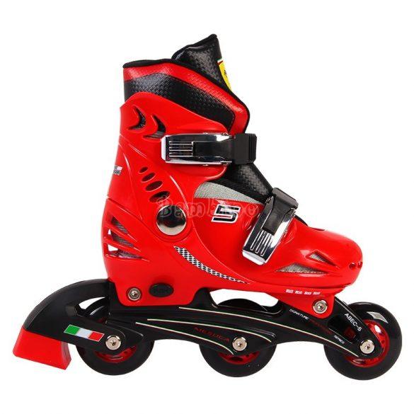 Chipolino Ferrari görkorcsolya + biztonsági szett-piros