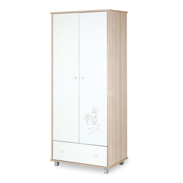 Klups Szafari nyuszi 2 ajtós szekrény