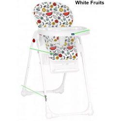 Lorelli Dulce multifunkciós etetőszék - White Fruits
