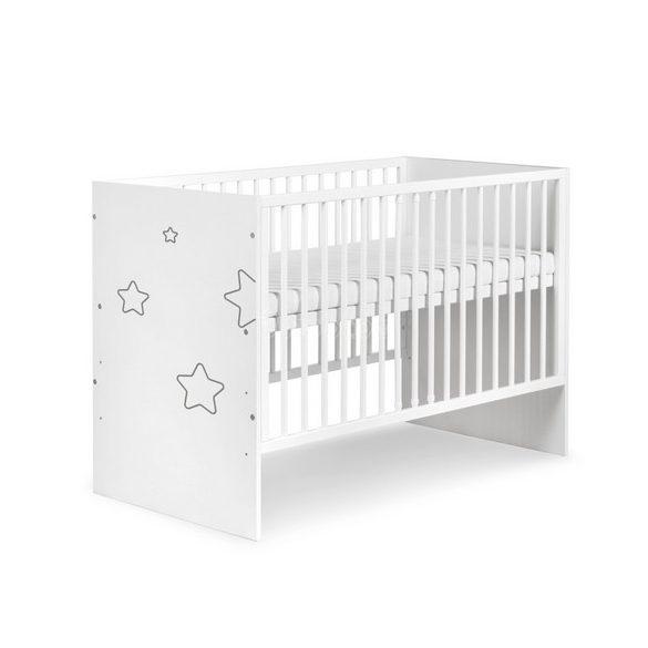 Klups Tino Stars kiságy 60x120 - fehér