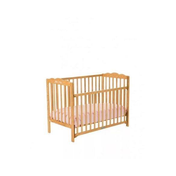 ZY Baby Little Star leengedhető oldalú kiságy, babaágy 60x120 - fenyő