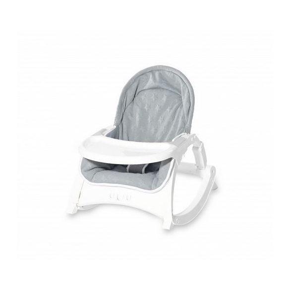 Lorelli Alex 3in1 rezgő-zenélő pihenőszék tálcával - Silver Blue Stars
