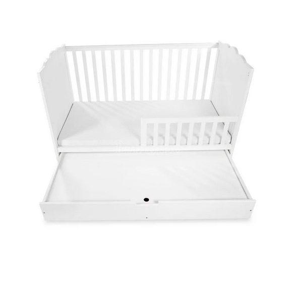 Klups Marsell kiságy leesésgátlóval és ágyneműtartóval 70x140 - fehér