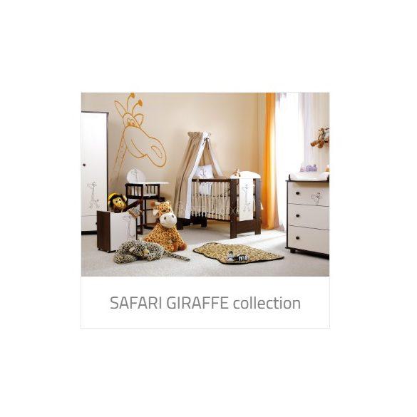 Klups Szafari Zsiráf törtfehér-dió komód pelenkázó feltéttel