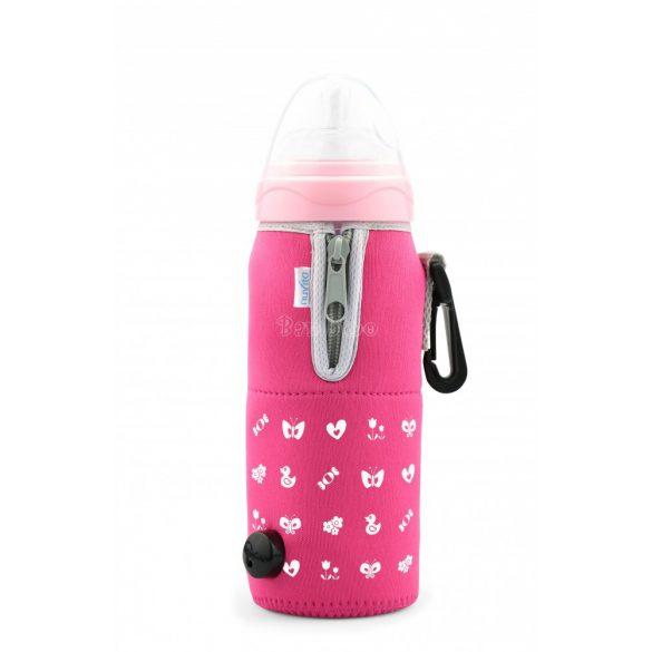 Nuvita Neoprén hőtárolós autós cumisüvegmelegítő - pink