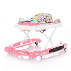 Chipolino Lilly bébikomp, járássegítő 3in1 - pink