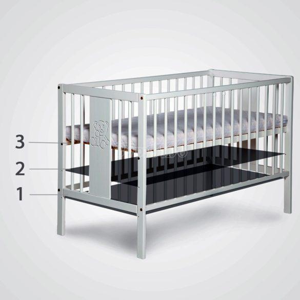 Klups Radek II fehér kiságy babaágy + ágyneműtartó
