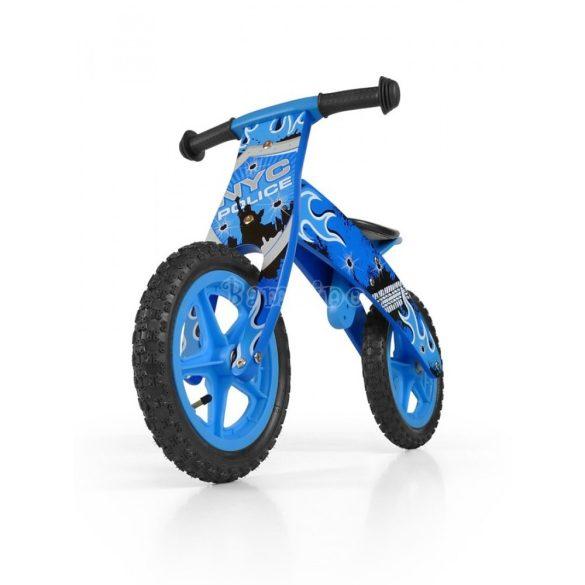 Kék fa futóbicikli pumpás gumi kerekekkel