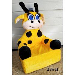 Állatfigurás plüss gyerekfotel - fotelágy- többféle