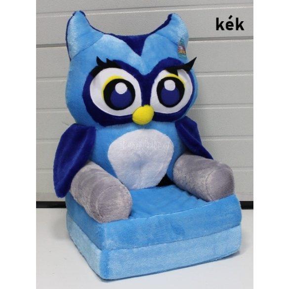 Kék Bagoly babafotel fotelágy