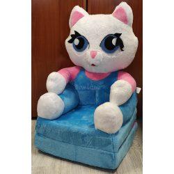 Kék cica babafotel fotelágy